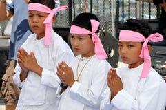 NYC: Little Boys at Burmese Water Festival Stock Photos
