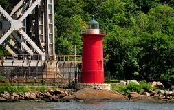 NYC: Little Red Lighthouse on the Hudson River Stock Image