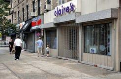 NYC: Lojas Shuttered devido ao furacão Fotos de Stock Royalty Free