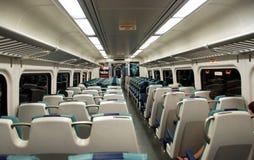 NYC: Long Island Railroad Car Interior Stock Photography