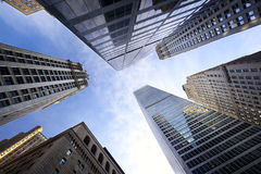 NYC looking up Royalty Free Stock Image