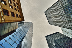 NYC - looking up. Royalty Free Stock Images