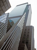 NYC - looking up. New York City - looking up. Buildings of Manhattan Royalty Free Stock Photo