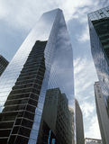 NYC - looking up. New York City - looking up. Buildings of Manhattan Royalty Free Stock Photos
