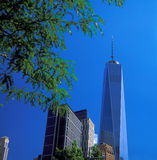 NYC - looking up. New York City - looking up. Buildings of Manhattan - Freedom Tower Royalty Free Stock Photo