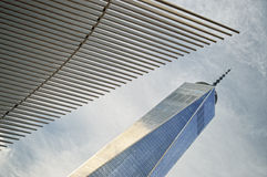NYC - looking up. Royalty Free Stock Photography