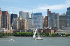 NYC: Lower Manhattan Skyline Stock Photo