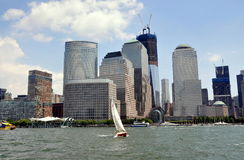 NYC: Lower Manhattan Skyline Royalty Free Stock Photography