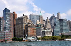 NYC: Lower Manhattan Skyline Royalty Free Stock Images