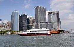 NYC: Lower Manhattan Skyline Stock Image