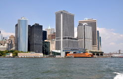 NYC: Lower Manhattan Skyline Stock Image