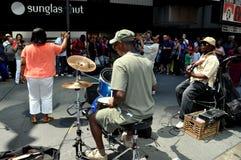 NYC: Músicos no Times Square Imagem de Stock Royalty Free