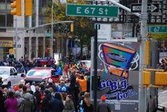 2014 NYC mężczyzna lidera Maratońska paczka Fotografia Royalty Free