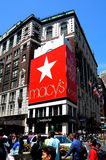 NYC: Macy's Department Store. New York City:  Macy's, the world's largest store, at the corner of Broadway and West 34th Street in Herald Square Stock Photos