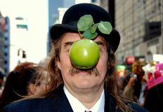 NYC: Man at 5th Avenue Easter Parade Royalty Free Stock Photography