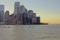 Nyc manhattan skyline Royalty Free Stock Photography