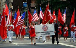 NYC: Manifestantes turcos da parada do dia Foto de Stock Royalty Free