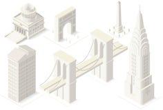 NYC Map 04 Building Isometric Stock Photos