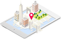 NYC Map 02 Building Isometric Royalty Free Stock Photo