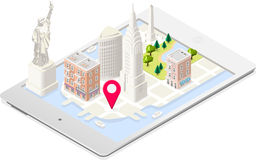 NYC Map 01 Building Isometric Royalty Free Stock Photo