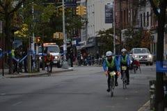 NYC Marathon Bike Guides Royalty Free Stock Image