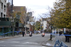NYC-Marathon-Einrichtung Lizenzfreie Stockfotografie