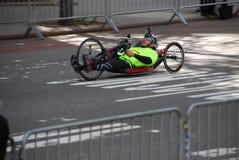 2014 NYC Marathon racer closup Stock Photo
