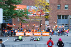 2014 NYC Marathon view on 1st Avenue Royalty Free Stock Photography