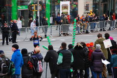 2014 NYC Marathon view on 1st Avenue Stock Image