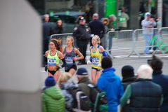 2014 NYC Marathon Womens closeup Stock Photography