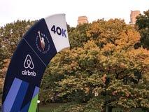 NYC-Marathonmarkierung Stockfoto