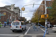 NYC-Marathonopstelling Stock Foto