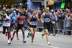 2017 NYC maraton - mężczyzna elita lidery obrazy royalty free