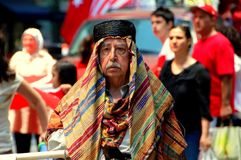 NYC: Marcher at Turkey Day Parade Stock Photos