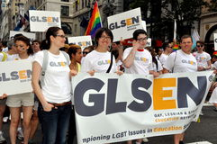 NYC: Marchers at Gay Pride Parade Royalty Free Stock Images