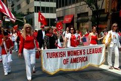 NYC: Marchers at Turkey Day Parade Royalty Free Stock Photo