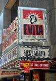 NYC: Marquee for Broadway's Evita Stock Photo