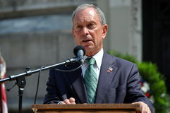 NYC: Mayor Michael Bloomberg Fotografia de Stock