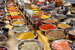NYC: Mediterranean Spices at Street Festival Royalty Free Stock Photography