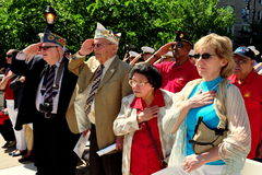 NYC:  Memorial Day Ceremonies 2014 Stock Images