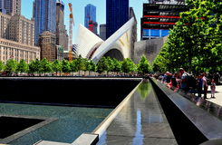 NYC: 9/11 Memorial North Tower Footprint Stock Photography