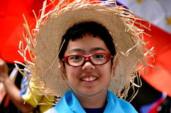 NYC: Menino novo na parada de Filippino Fotografia de Stock