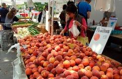 NYC: Mercado del granjero cuadrado de Abingdon Foto de archivo libre de regalías