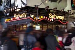NYC metra wejście Zdjęcia Royalty Free