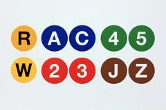 NYC-Metrolijnen Stock Afbeeldingen