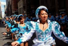 NYC: Mexican Independence Day Parade Royalty Free Stock Images