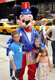 NYC:  Mickey Mouse and Kids in Midtown Stock Photography