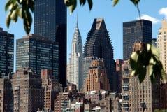 NYC: Midtown-Manhattan-Kontrolltürme Stockbild
