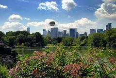 NYC:Midtown Manhattan Skyline & Central Park Royalty Free Stock Images