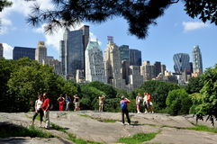 NYC: Midtown Skyline from Central Park Royalty Free Stock Image